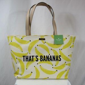 Kate Spade That's Bananas Canvas Tote Purse NWT